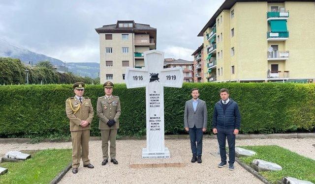 Un monument al eroilor români din Primul Război Mondial, ridicat într-un oraș din Italia