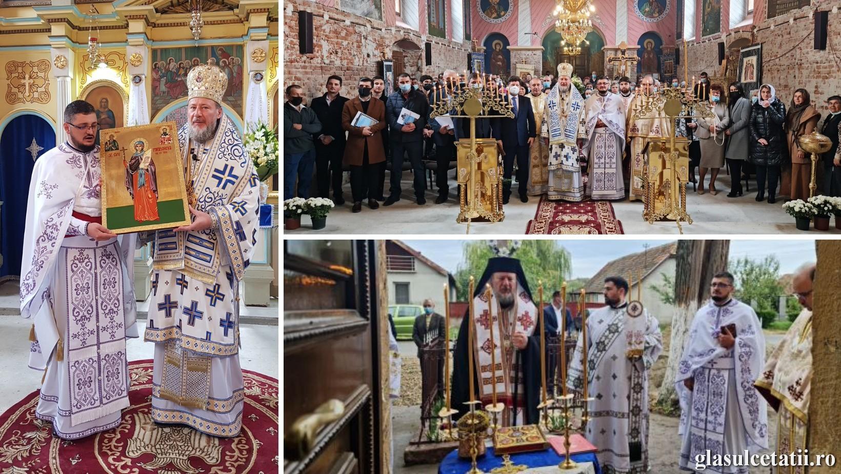 """(FOTO) PS Emilian Crișanul a sfințit lucrările de la Biserica """"Sf. Cuv. Parascheva"""" din Mănăștur"""