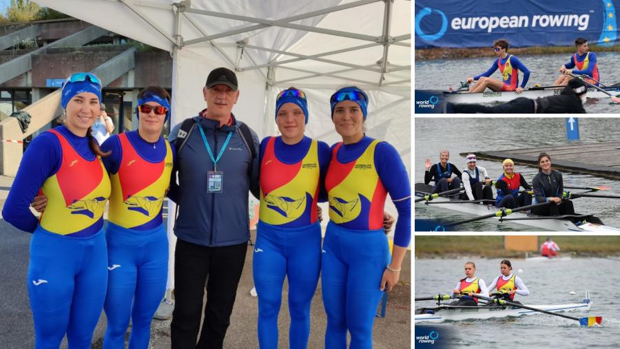 România, locul 1 în clasamentul pe națiuni la Campionatele Europene de Canotaj la Juniori