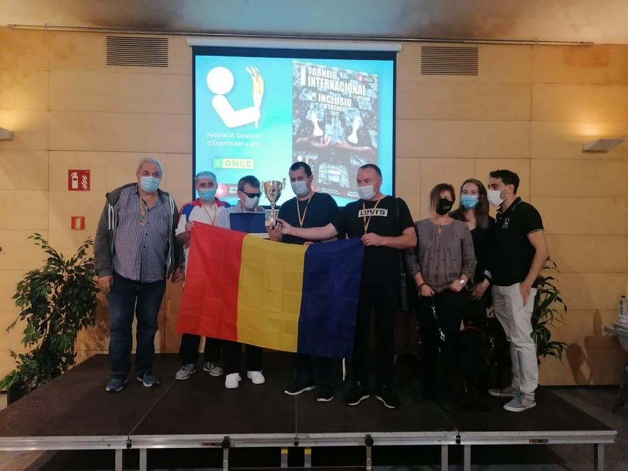 Echipa de șah a nevăzătorilor români a câștigat turneul de la Barcelona