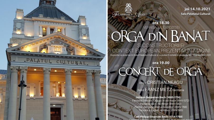 """Vernisajul expoziției """"Orga din Banat și constructorii ei – Context european prezentat în imagini"""", joi, la Palatul Cultural"""