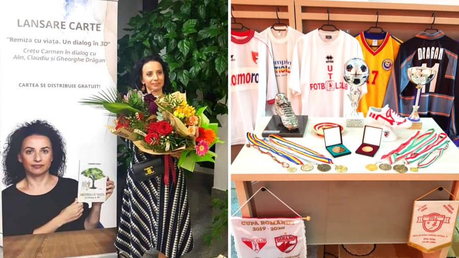 """""""Remiza cu viața. Un dialog în 3D"""" - lansare de carte, fotbal, comuniune și omagiu pentru Ghiță Drăgan, la Chișineu-Criș"""