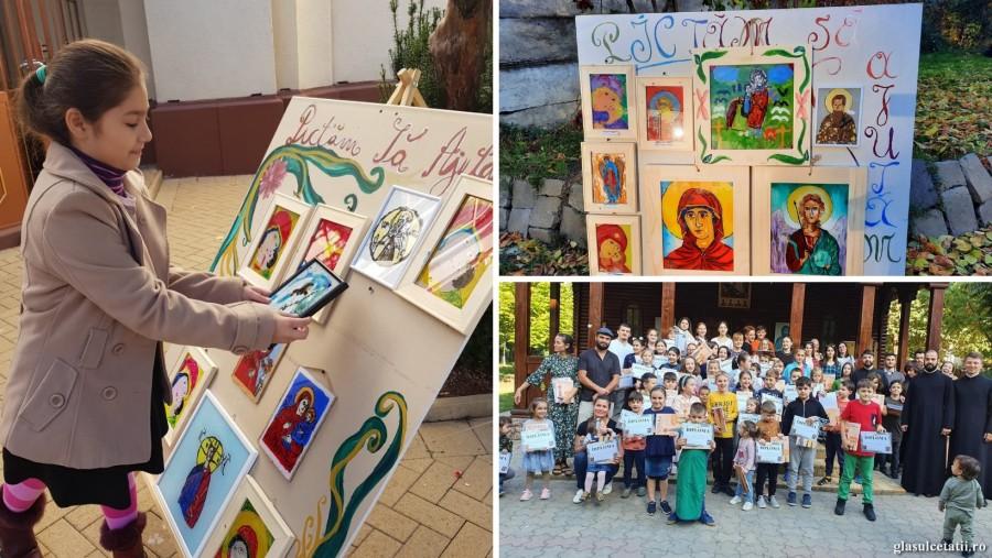Au pictat și au ajutat! Copiii din Arhiepiscopia Aradului au strâns 15.400 de lei pentru Maria Băcanu și Paul Diș